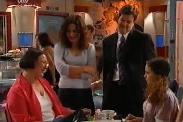Svetlanka Ristic, Liljana Bishop, David Bishop, Serena Bishop in Neighbours Episode 4423