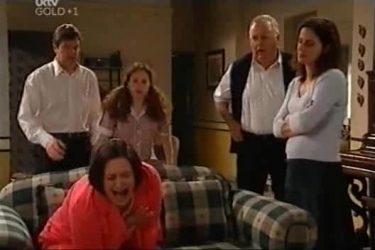 David Bishop, Serena Bishop, Svetlanka Ristic, Harold Bishop, Liljana Bishop in Neighbours Episode 4423