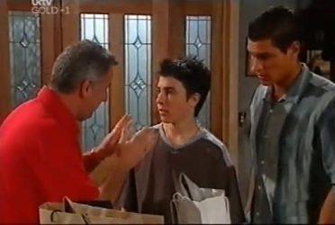 Gino Esposito, Stingray Timmins, Aaron Barkley in Neighbours Episode 4476