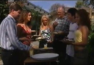 David Bishop, Liljana Bishop, Sky Mangel, Harold Bishop, Stingray Timmins, Serena Bishop in Neighbours Episode 4486