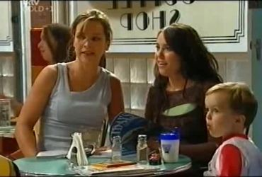 Steph Scully, Libby Kennedy, Ben Kirk in Neighbours Episode 4492
