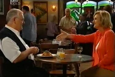 Harold Bishop, Lou Carpenter, June Merret in Neighbours Episode 4497