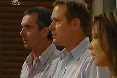 Karl Kennedy, Max Hoyland, Steph Scully in Neighbours Episode 4497