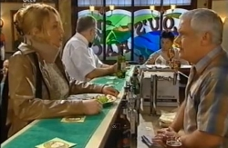 Janelle Timmins, Harold Bishop, Stingray Timmins, Lou Carpenter in Neighbours Episode 4609