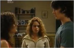 Liljana Bishop, Serena Bishop, Luka Dokic in Neighbours Episode 4615