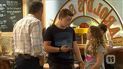Karl Kennedy, Callum Jones, Holly Hoyland in Neighbours Episode 6895