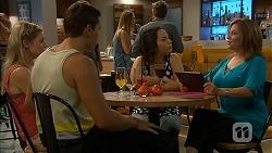 Amber Turner, Josh Willis, Imogen Willis, Terese Willis in Neighbours Episode 6898