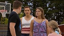 Callum Rebecchi, Josh Willis, Josie Lamb, Amber Turner in Neighbours Episode 6899