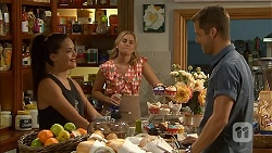 Paige Novak, Lauren Turner, Mark Brennan in Neighbours Episode 6901