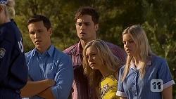 Josh Willis, Kyle Canning, Georgia Brooks, Amber Turner in Neighbours Episode 6901
