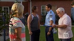 Lauren Turner, Brad Willis, Matt Turner, Lou Carpenter in Neighbours Episode 6902