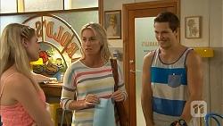 Amber Turner, Lauren Turner, Josh Willis in Neighbours Episode 6906