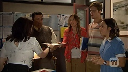 Libby Kennedy, David McGuire, Sonya Mitchell, Kyle Canning, Imogen Willis in Neighbours Episode 6907