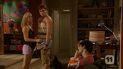 Georgia Brooks, Kyle Canning, Bossy, Chris Pappas in Neighbours Episode 6907