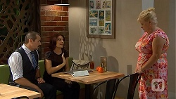 Toadie Rebecchi, Naomi Canning, Sheila Canning in Neighbours Episode 6908