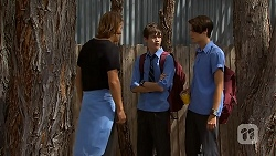 Jayden Warley, Bailey Turner, Ben Kirk in Neighbours Episode 6908