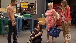 Mark Brennan, Naomi Canning, Sheila Canning, Sonya Rebecchi in Neighbours Episode 6909