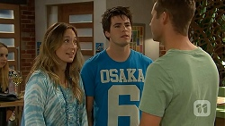 Sonya Mitchell, Chris Pappas, Mark Brennan in Neighbours Episode 6909