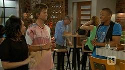 Imogen Willis, Daniel Robinson, Mike Enekwe in Neighbours Episode 6910