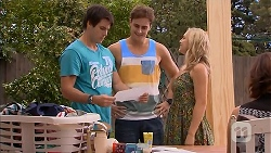 Chris Pappas, Kyle Canning, Georgia Brooks in Neighbours Episode 6911