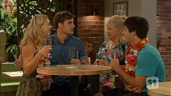 Georgia Brooks, Kyle Canning, Sheila Canning, Chris Pappas in Neighbours Episode 6911