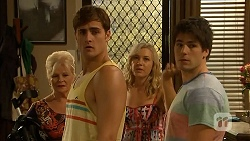 Sheila Canning, Kyle Canning, Georgia Brooks, Chris Pappas in Neighbours Episode 6915