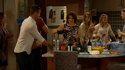 Mark Brennan, Naomi Canning, Sonya Rebecchi in Neighbours Episode 6917