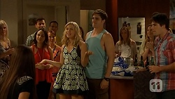 Imogen Willis, Georgia Brooks, Kyle Canning, Chris Pappas in Neighbours Episode 6917