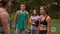 Brad Willis, Josh Willis, Imogen Willis, Paige Novak in Neighbours Episode 6918