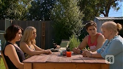 Naomi Canning, Georgia Brooks, Kyle Canning, Sheila Canning in Neighbours Episode 6923