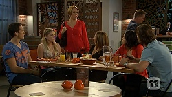 Josh Willis, Amber Turner, Sue Parker, Terese Willis, Imogen Willis, Brad Willis in Neighbours Episode 6925
