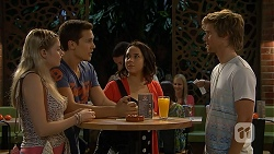 Amber Turner, Josh Willis, Imogen Willis, Daniel Robinson in Neighbours Episode 6925