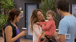 Naomi Canning, Sonya Rebecchi, Nell Rebecchi, Chris Pappas in Neighbours Episode 6927