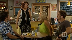 Chris Pappas, Naomi Canning, Georgia Brooks, Kyle Canning in Neighbours Episode 6927