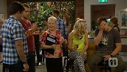 Chris Pappas, Mark Brennan, Sheila Canning, Georgia Brooks, Kyle Canning in Neighbours Episode 6928