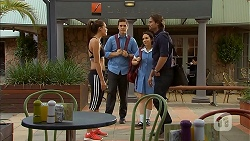 Paige Novak, Josh Willis, Imogen Willis, Brad Willis in Neighbours Episode 6929