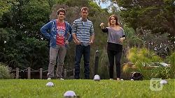 Chris Pappas, Mark Brennan, Naomi Canning in Neighbours Episode 6933