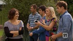 Naomi Canning, Mark Brennan, Chris Pappas, Georgia Brooks, Kyle Canning in Neighbours Episode 6933