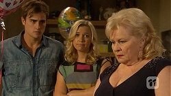 Kyle Canning, Georgia Brooks, Sheila Canning in Neighbours Episode 6933