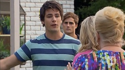Chris Pappas, Kyle Canning, Georgia Brooks, Sheila Canning in Neighbours Episode 6937
