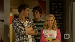 Kyle Canning, Chris Pappas, Georgia Brooks in Neighbours Episode 6937