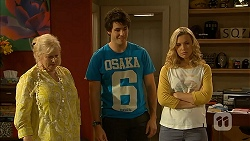 Sheila Canning, Chris Pappas, Georgia Brooks in Neighbours Episode 6939