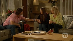 Brad Willis, Paige Novak, Lauren Turner in Neighbours Episode 6943