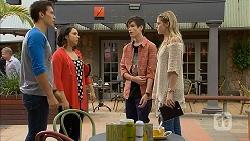 Josh Willis, Imogen Willis, Bailey Turner, Amber Turner in Neighbours Episode 6944