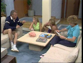 Jim Robinson, Charlene Mitchell, Scott Robinson, Madge Bishop in Neighbours Episode 0449