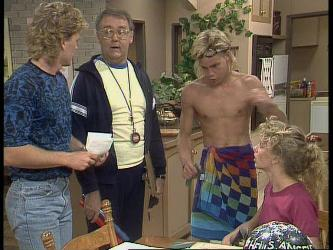 Henry Ramsay, Harold Bishop, Scott Robinson, Charlene Mitchell in Neighbours Episode 0449