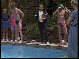 Mike Young, Harold Bishop, Scott Robinson in Neighbours Episode 0449