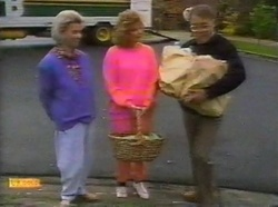 Helen Daniels, Madge Bishop, Harold Bishop in Neighbours Episode 0776
