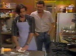 Mike Young, Des Clarke in Neighbours Episode 0776