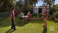Chris Pappas, Georgia Brooks, Sheila Canning, Kyle Canning in Neighbours Episode 6946